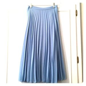 ASOS Pleated Chiffon Midi Skirt - Baby Blue - 2